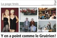 "Article de Presse ""La Gruyere"""